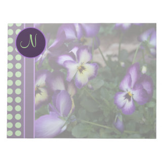 Purple Pansy and Green Dots Notepads