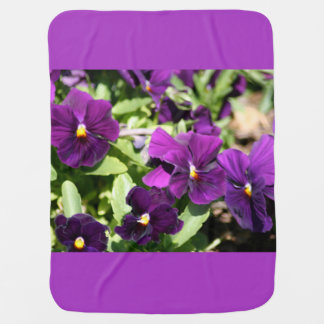 Purple Pansy Baby Blanket