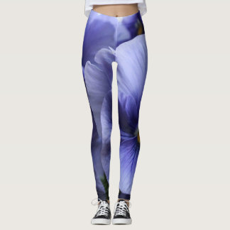 Purple Pansy Blossom, Photo 43, Unique, Artsy Leggings