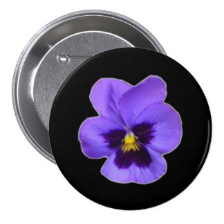 Purple Pansy Pinback Buttons