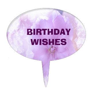 Purple Pansy Cake Picks