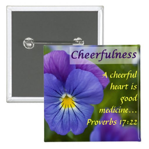 Purple Pansy - Cheerfulness 2 Inch Square Button