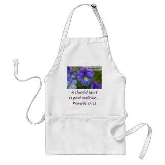 Purple Pansy - Cheerfulness Adult Apron