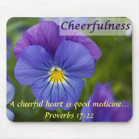 Purple Pansy - Cheerfulness Mouse Pad