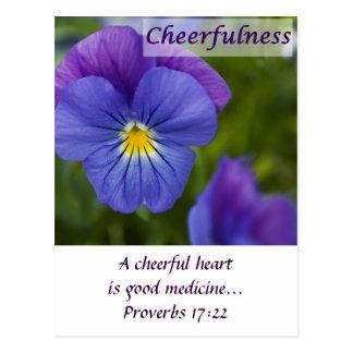 Purple Pansy - Cheerfulness Postcard