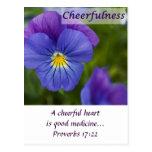 Purple Pansy - Cheerfulness Postcards