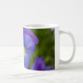 Purple Pansy Classic White Coffee Mug