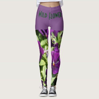 Purple Pansy Custom Leggings