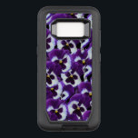 "Purple Pansy  Defender Samsung Galaxy S8 Case<br><div class=""desc"">Pansy,  OtterBox Defender Samsung Galaxy S8 Case,  featured on this high quality tough defender series case,  are purple and white Pansies, 