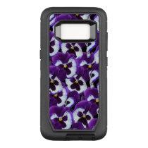Purple Pansy  Defender Samsung Galaxy S8 Case
