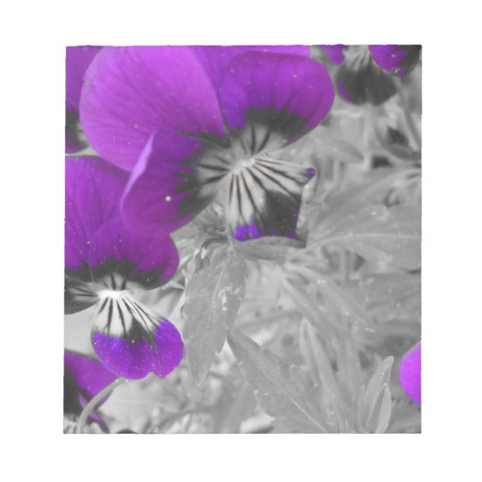 Purple Pansy Effect Notepad