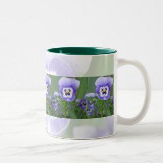 Purple Pansy Faces Garden Mug