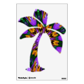 Purple Pansy Floral Kaleidoscope Room Decals