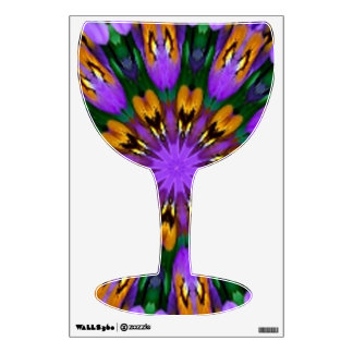 Purple Pansy Floral Kaleidoscope Room Graphics