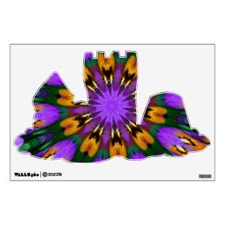 Purple Pansy Floral Kaleidoscope Wall Sticker