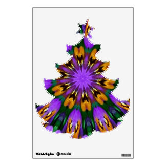 Purple Pansy Floral Kaleidoscope Wall Stickers
