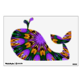 Purple Pansy Floral Kaleidoscope Room Graphic