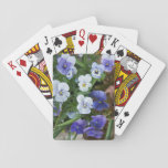 """Purple Pansy Floral Playing Cards Gardener Gift<br><div class=""""desc"""">These playing cards are perfect for anyone that loves purple pansies!</div>"""