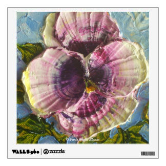 Purple Pansy Floral Wall Decal