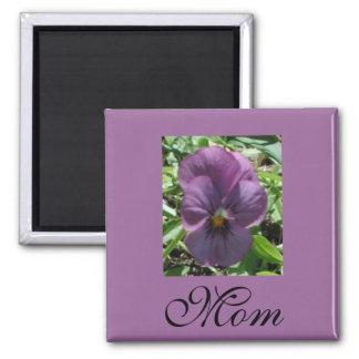 Purple Pansy For Mom Magnet by Janz