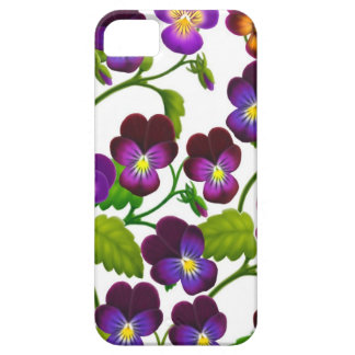 Purple Pansy Garden Flowers iPhone 5 Case