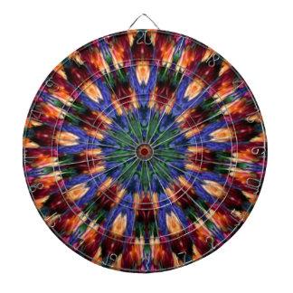 Purple Pansy Garden Kaleidoscope Dartboard