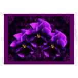 Purple Pansy Goth Art Greeting Card