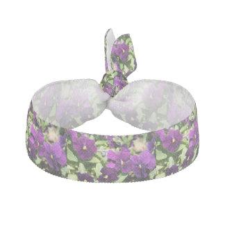 Purple Pansy Hair Tie Hair Ties