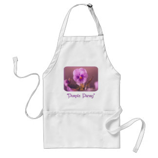 Purple Pansy Impressionist apron