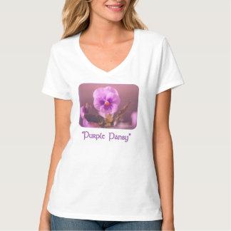 Purple Pansy Impressionist T-Shirt