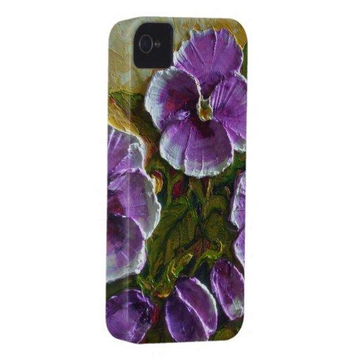 Purple Pansy iPhone 4 Case