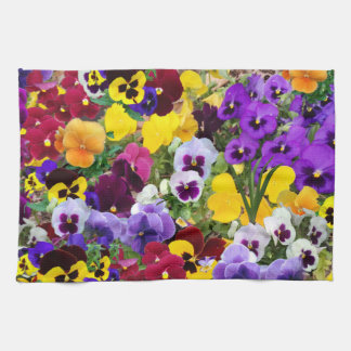 purple pansy kitchen towel2 kitchen towel