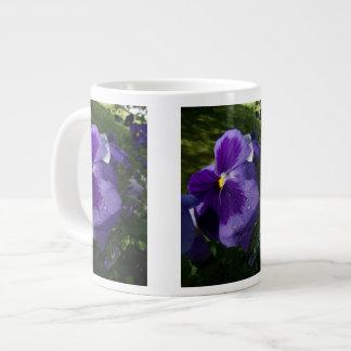Purple Pansy Large Coffee Mug