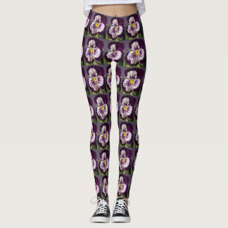 Purple Pansy Leggings
