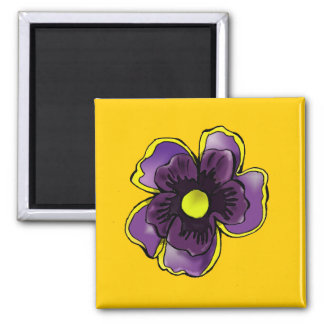 Purple Pansy Magnet