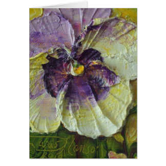 Purple Pansy Note Card