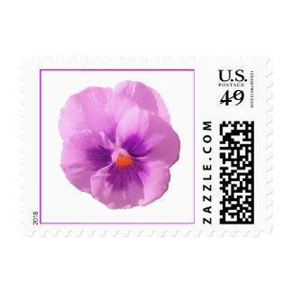 Purple Pansy Postage Stamp