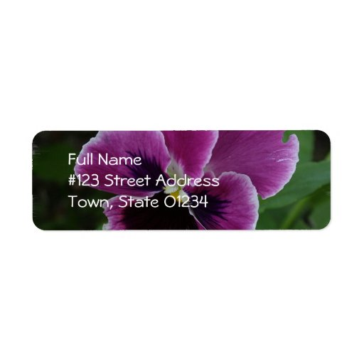 Purple Pansy Return Address Label