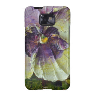 Purple Pansy Samsung Galexy Case Galaxy S2 Cover