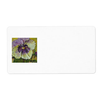 Purple Pansy Shipping Label