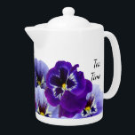 "Purple Pansy Tea Pot<br><div class=""desc"">Start your day with these pretty purple pansies as you enjoy your morning tea!</div>"