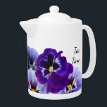 """Purple Pansy Tea Pot<br><div class=""""desc"""">Start your day with these pretty purple pansies as you enjoy your morning tea!</div>"""
