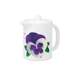 Purple Pansy Teapot