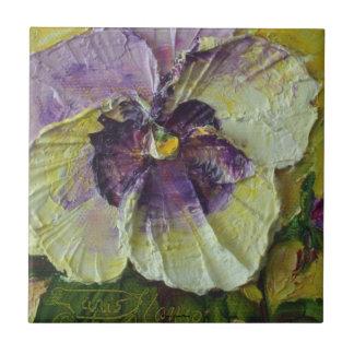 Purple Pansy Tile