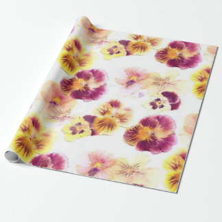 Purple Pansy Wrapping Paper