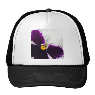 Purple pansys trucker hat