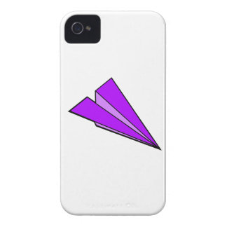 Purple Paper Airplane iPhone 4 Covers