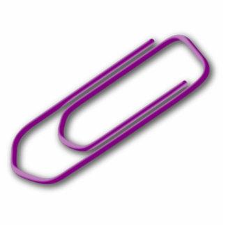 Purple Paper Clip Photo Cutouts