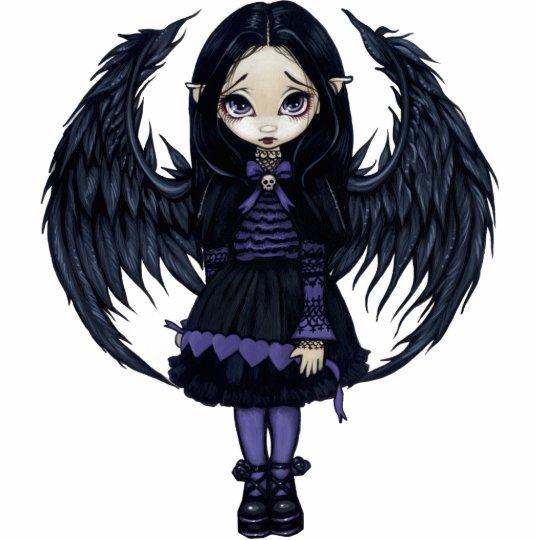 Purple Paper Hearts gothic fairy Photo Sculpture