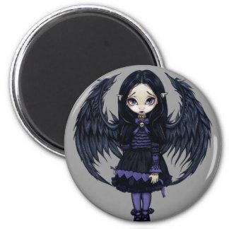 """Purple Paper Hearts"" Magnet"